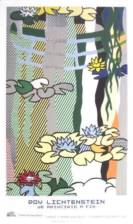 Water Lilies with Japanese Bridge Art by Roy Lichtenstein