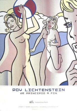 Nudes with Beach Ball Stampe di Roy Lichtenstein