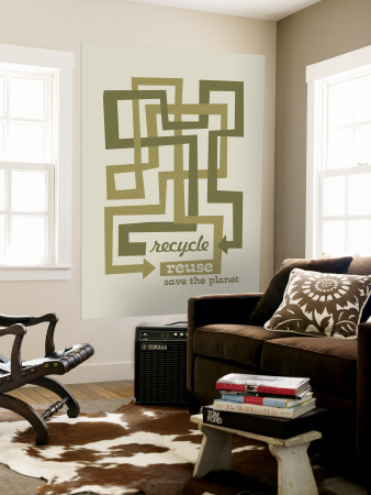 Recycle Reuse Wall Mural