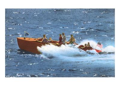 Powerboat on the Ocean Prints