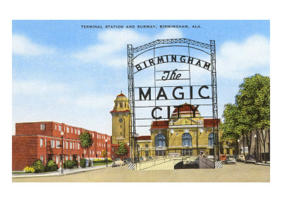 Terminal Station, Birmingham, Alabama Prints