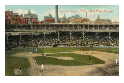 National League, Cubs Ball Park, Chicago Premium Poster