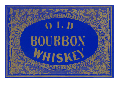 Old Bourbon Whiskey Sign Poster
