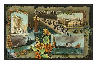 Greetings from New York City Premium Poster