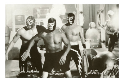 Mexican Wrestlers, Photo Premium Poster