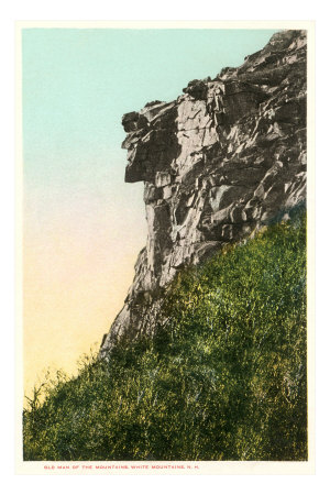 Old Man of the Mountains, White Mountain, New Hampshire Premium Poster