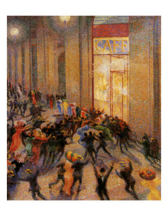 Riot in the Galleria Giclee Print