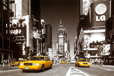 Times Square - Yellow Cab Plakat