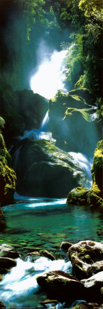 New Zealand Waterfall Plakat