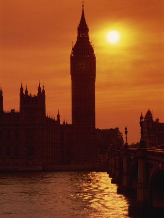 Houses of Parliament, Westminster, UNESCO World Heritage Site, London, England, United Kingdom Photographic Print by Kathy Collins