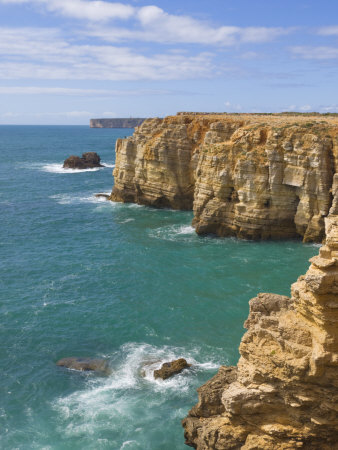 Atlantic Ocean and Cliffs on the Cape St. Vincent Peninsula, Sagres, Algarve, Portugal, Europe Photographic Print by Neale Clarke