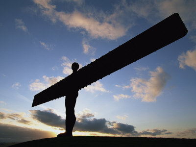 Angel of the North Statue, Newcastle Upon Tyne, Tyne and Wear, England, United Kingdom, Europe Photographic Print by Neale Clarke