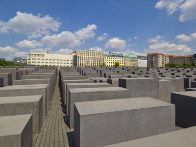 Memorial to the Murdered Jews of Europe, or the Holocaust Memorial, Ebertstrasse, Berlin, Germany Photographic Print by Neale Clarke