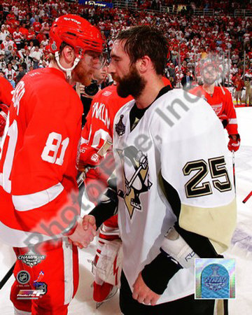 Maxime Talbot & Marian Hossa Game 7 of the 2008-09 NHL Stanley Cup Finals Photo