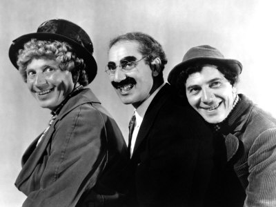 At the Circus, Harpo Marx, Groucho Marx, Chico Marx, 1939 Photo