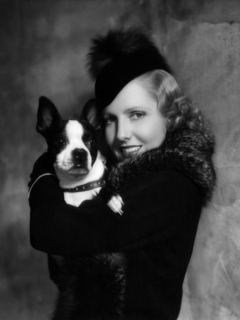 Jean Arthur with Boston Terrier, 1935 Premium Poster