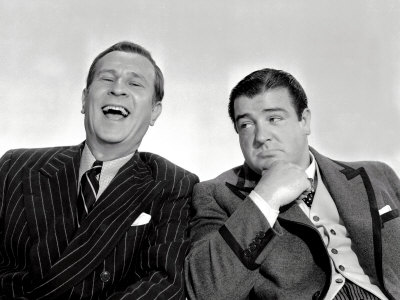Bud Abbott and Lou Costello in Hollywood, Bud Abbott, Lou Costello, 1945 Premium Poster