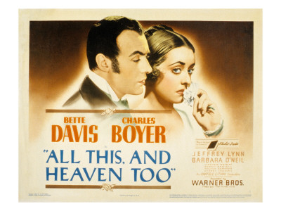 All This and Heaven Too, Charles Boyer, Bette Davis, 1940 Photo
