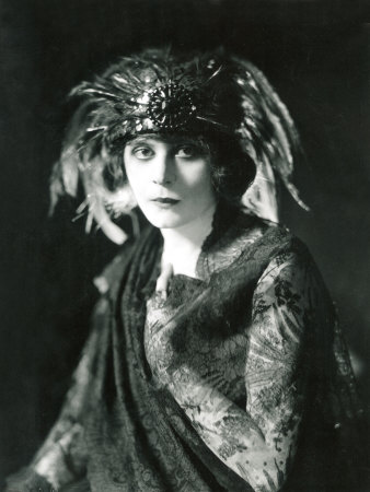 Theda Bara in the Broadway Show the Blue Flame, 1920 Photo