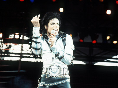 Michael Jackson in Concert at Cardiff Arms Park, 26th July 1988 Fotografie-Druck