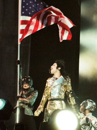 Michael Jackson on Stage at Sheffield, July 10, 1997 Photographie