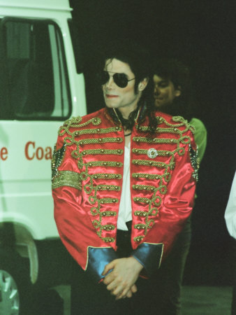 Michael Jackson after Performing on Stage at Sheffield, July 10, 1997 Photographie