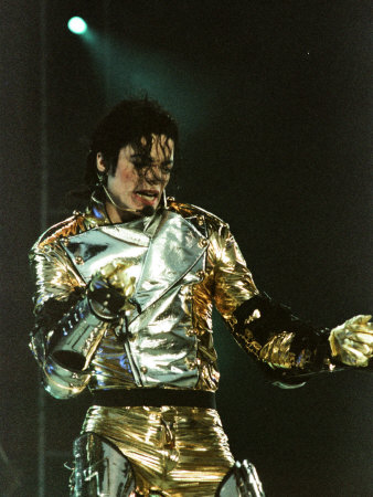 Michael Jackson on Stage in Sheffield, July 1997 Photographie