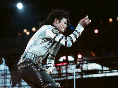 Michael Jackson Seen Here in Concert at Roundhay Park. 29th July 1988 Fotografie-Druck