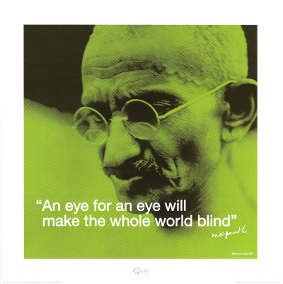 Gandhi: Eye for an Eye Kunsttryk