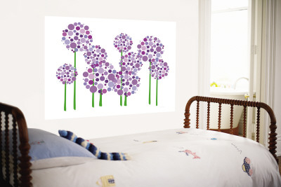 Purple Allium Mural