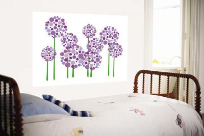 Purple Allium Wall Mural by  Avalisa