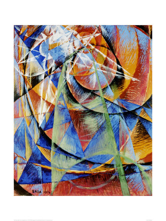 Mercury Passing Before the Sun Posters by Giacomo Balla
