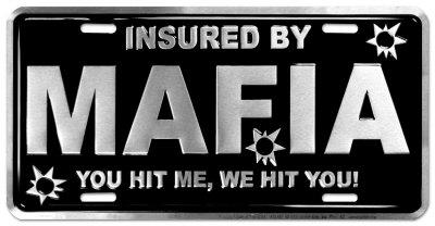 Mafia Auto Tag Tin Sign