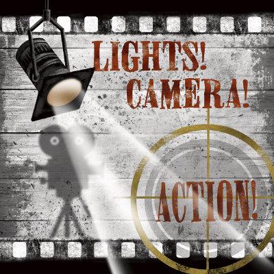 Lights! Camera! Action! Art by Conrad Knutsen
