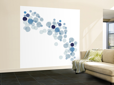 Blue Float Wall Mural – Large