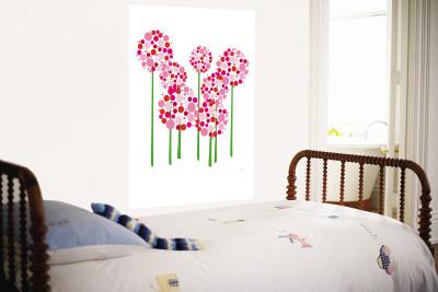 Pink Allium Wall Mural by  Avalisa