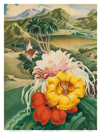 Hawaii USA, 1942 Hawaii Tourist Bureau booklet Art