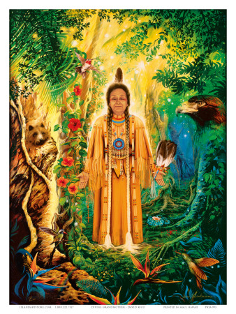 Native American Divine Grandmother Art Print