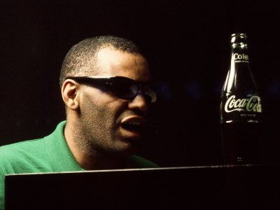 Ray Charles Taping a Coca-Cola Radio Commercial, 1967 Photo