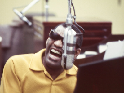 Ray Charles in the Studio Photo
