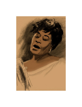Ella Fitzgerald Giclee Print by Clifford Faust