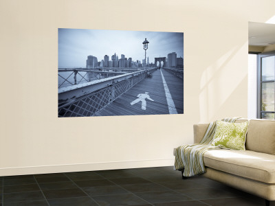 Manhattan and brooklyn bridge new york city usa wall for Brooklyn bridge black and white wall mural