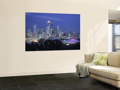 Seattle Skyline Fr. Queen Anne Hill, Washington, USA Wall Mural