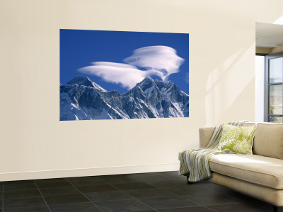 Everest and Lhotse, Nepal Wall Mural by Jon Arnold