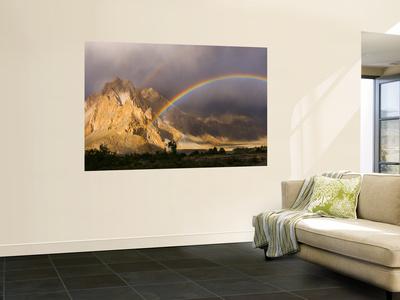Rainbow, Passu, Khunjrab River, Northern Pakistan Wall Mural by Michele Falzone
