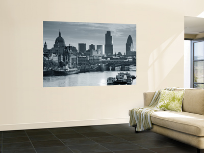 St. Paul's and City of London, London, England Wall Mural