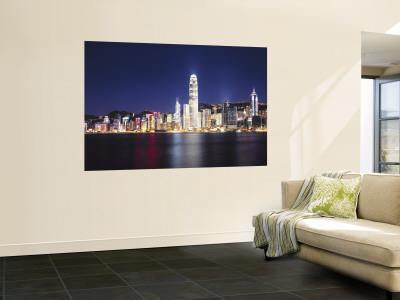 Hong Kong Skyline from Kowloon, China Wall Mural by James Montgomery Flagg