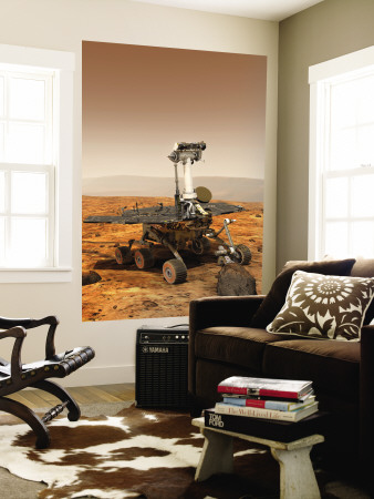 Artists Rendition of Mars Rover Wall Mural