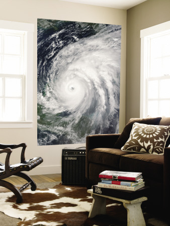 October 21, 2005, Hurricane Wilma Over Mexico Wall Mural