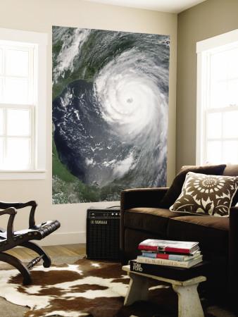 August 28, 2005, Hurricane Katrina Approaching the Gulf Coast Wall Mural